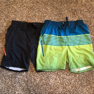 Men's swim trunks x2